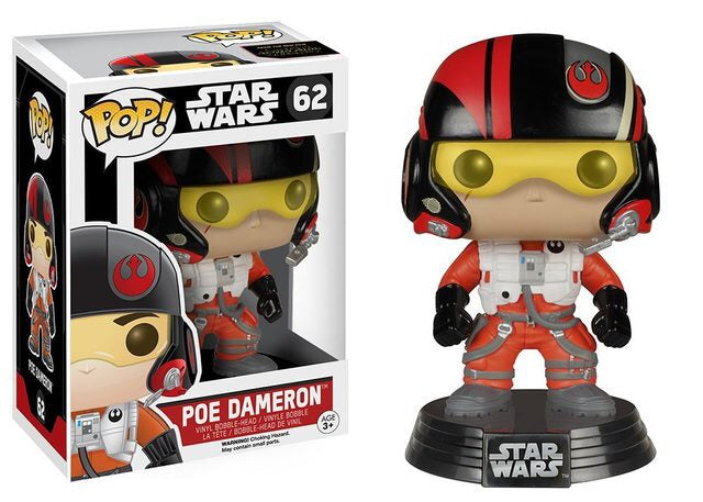 Funko Pop! Star Wars - Poe Dameron #62 - Popu!ar Collectibles