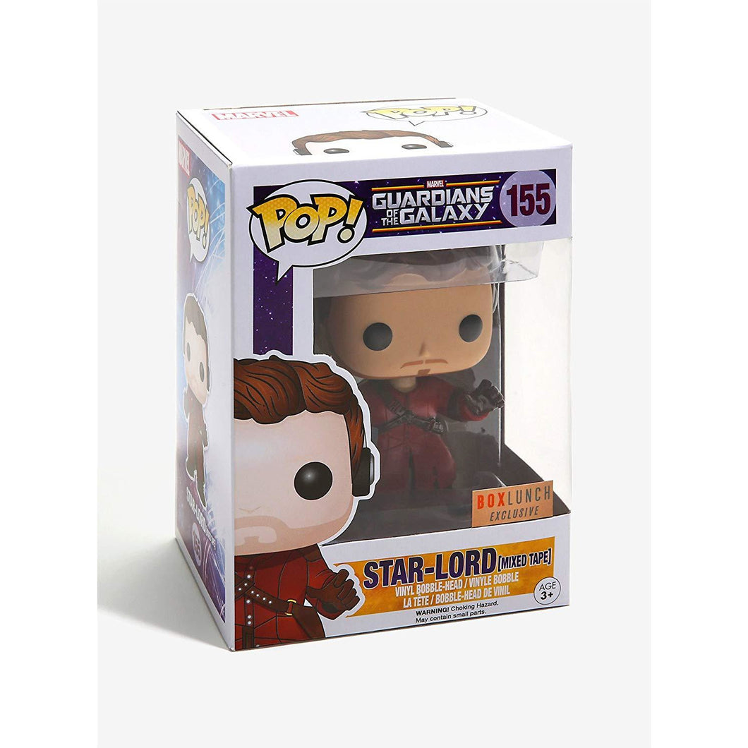 Funko Pop! Marvel: Star-Lord with Mixtape (Boxlunch Exclusive) #155 - Popu!ar Collectibles