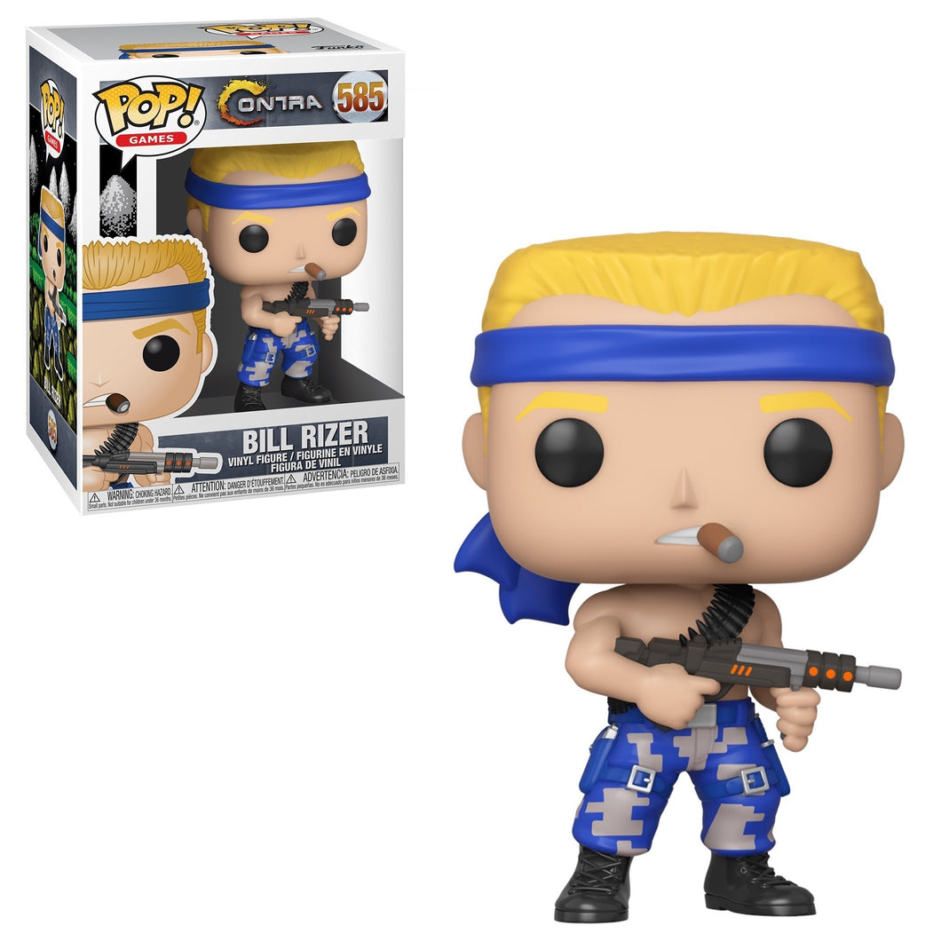 Funko Pop! Games: Contra - Bill Rizer #585 - Popu!ar Collectibles