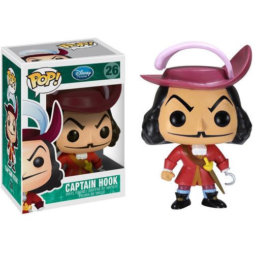 Funko Pop! Disney: Captain Hook #26 - Popular Collectibles | Popu!ar Collectibles