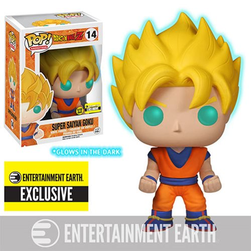 Funko Pop! Dragon Ball Z: GITD Super Saiyan Goku (Entertainment Earth Exclusive) #14 - Popu!ar Collectibles
