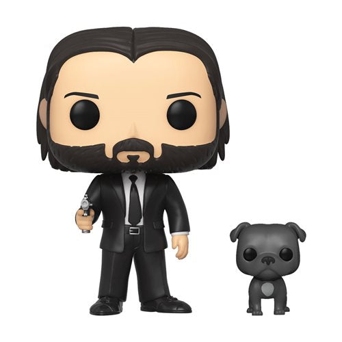 Funko Pop! Movies: John Wick - John Wick with Dog #380 - Popu!ar Collectibles