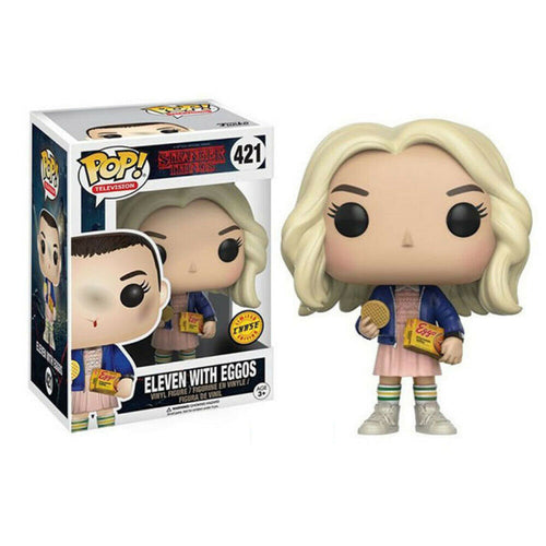 Funko Pop! Television: Stranger Things - Eleven with Eggos (Chase) #421 - Popu!ar Collectibles