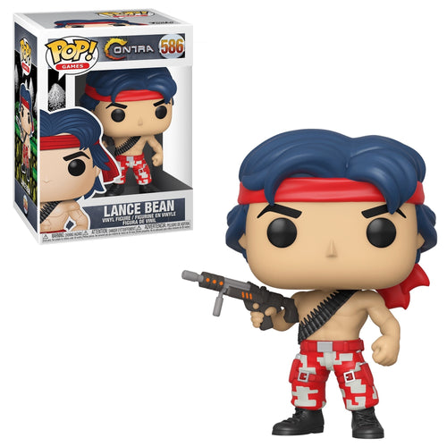 Funko Pop! Games: Contra - Lance Bean #586 - Popu!ar Collectibles