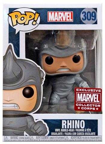 Funko Pop! Marvel: Rhino (Marvel Corps Exclusive) #309 - Popu!ar Collectibles