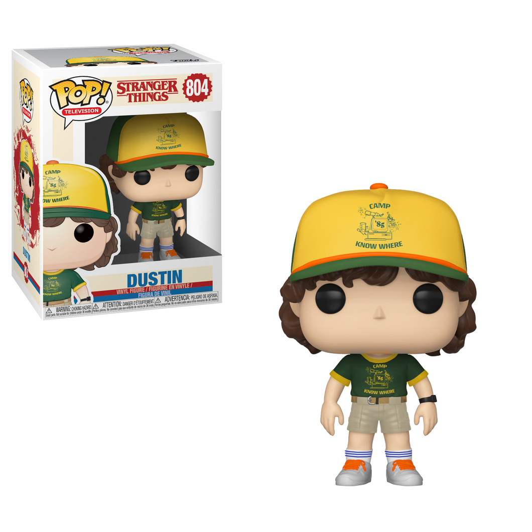 Funko Pop! Television: Stranger Things - Dustin #804 - Popular Collectibles | Popu!ar Collectibles