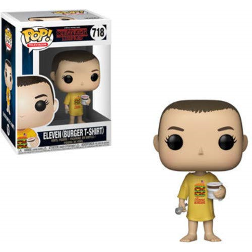 Funko Pop! Television: Stranger Things - Eleven (Burger T-Shirt) #718 - Popu!ar Collectibles