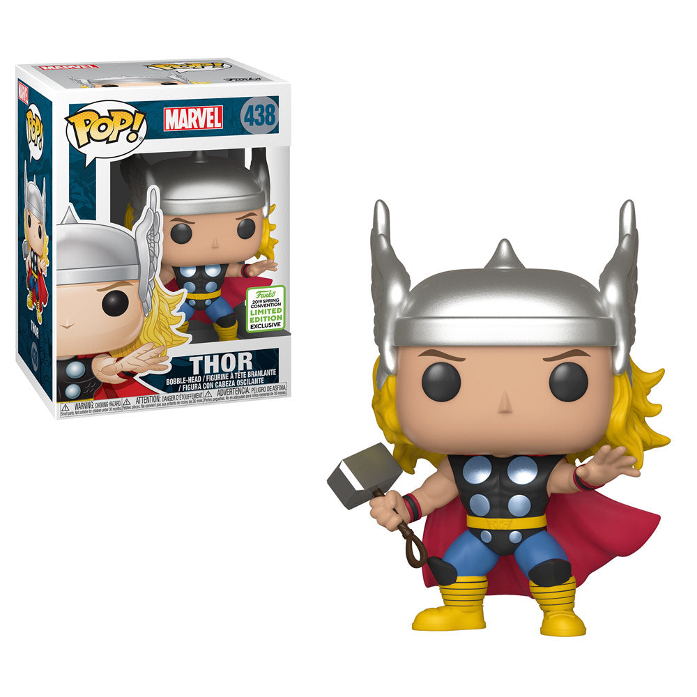 Funko Pop! Marvel: Thor (Classic) (Spring Convention Limited Edition) #438 - Popu!ar Collectibles