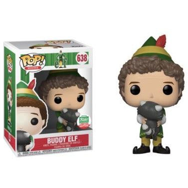 Funko Pop! Movies: Buddy Elf with Raccoon (Funko Limited Edition) #638 - Popular Collectibles | Popu!ar Collectibles
