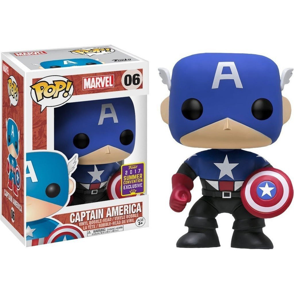 Funko Pop! Marvel: Captain America (Bucky Cap) (Summer Convention Exclusive) #06 - Popular Collectibles | Popu!ar Collectibles
