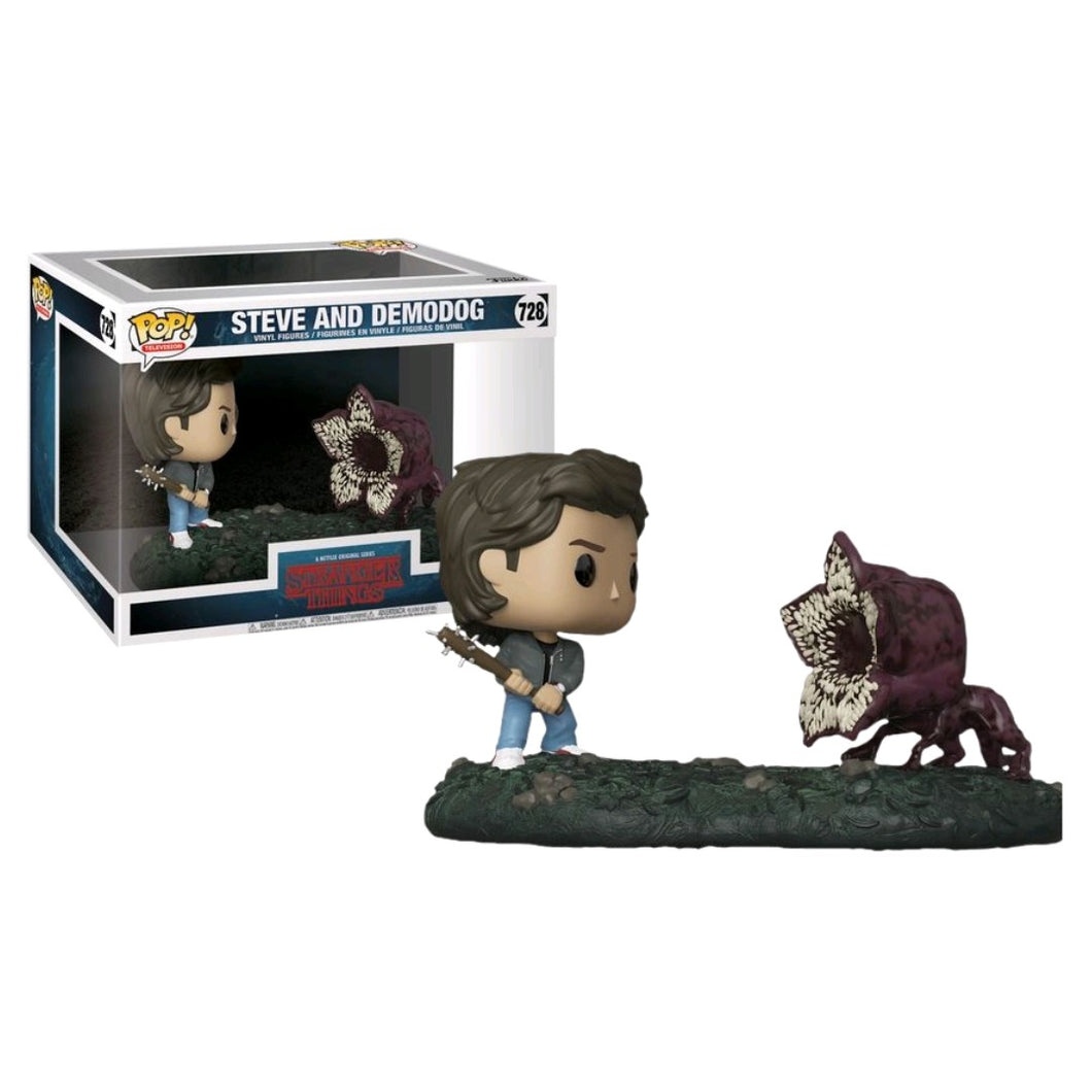 Funko Pop! Television: Stranger Things - Steve and Demodog #728 - Popular Collectibles | Popu!ar Collectibles