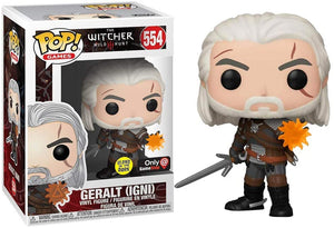 Funko Pop! The Witcher: Geralt (Igni) #554 GITD (Gamestop Exclusive)