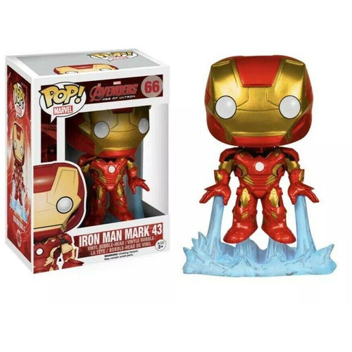 Funko Pop! Marvel: Iron Man Mark 43 #66 - Popu!ar Collectibles