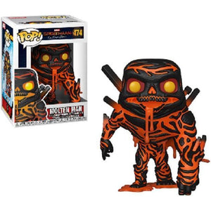 Funko Pop! Spider-Man: Far From Home - Molten Man GITD #475 (Gamestop Exclusive) - Popular Collectibles | Popu!ar Collectibles