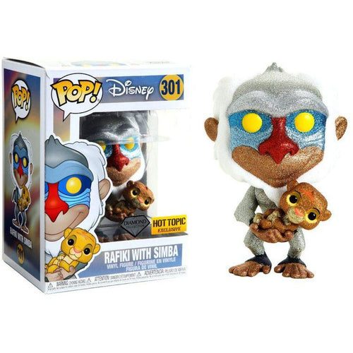 Funko Pop! Disney: Rafiki with Simba Diamond Collection (Hot Topic Exclusive) #301 - Popular Collectibles | Popu!ar Collectibles