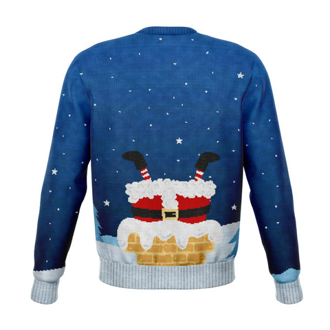 Image of Santa Loves to go Down Ugly Xmas Sweater