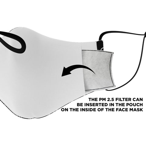 "Image of The ""Celine"" Custom Printed Face Mask"