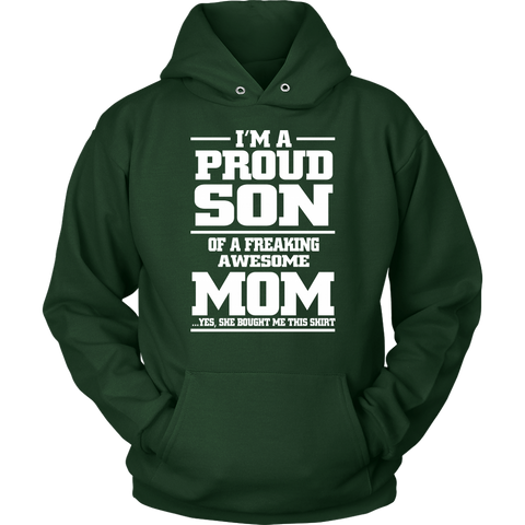 Image of I'm a proud son of an awesome mom shirt