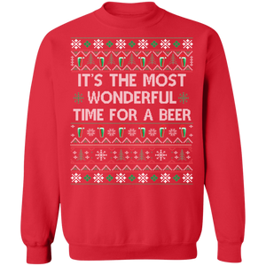 Most Wonderful time for a Beer Ugly Xmas Sweater