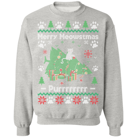 Image of Merry Meowstmas Ugly Xmas Sweater
