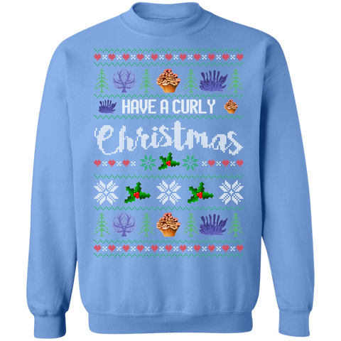 Image of Have a Curly Christmas Ugly Xmas Sweater