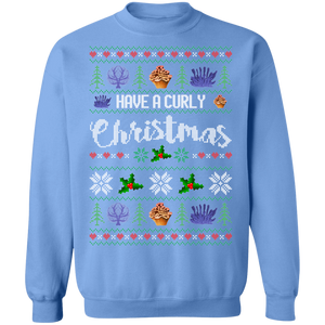 Have a Curly Christmas Ugly Xmas Sweater