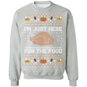 Just here for the Food Ugly Thanksgiving Sweater