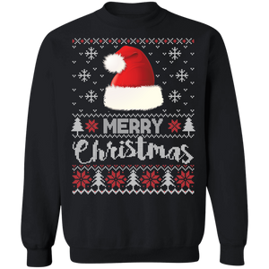 Santa Hat Ugly Xmas Sweater