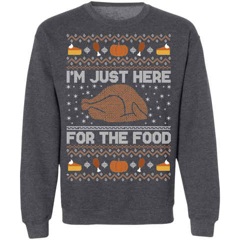 Image of Just here for the Food Ugly Thanksgiving Sweater