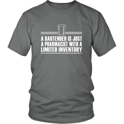 Image of Bartender is just a pharmacist shirt