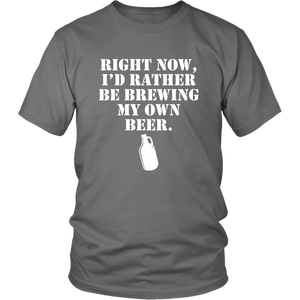 I'd rather be brewing my own beer