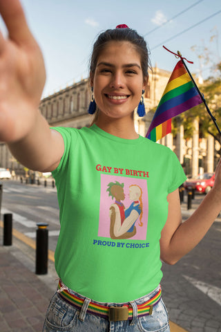 Image of Gay by Birth - Proud by Choice Unisex Tee