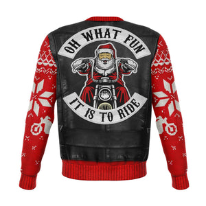What fun it is to ride Ugly Xmas Sweater