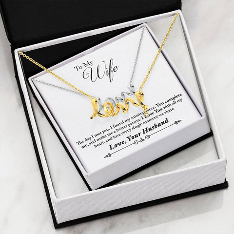 To My Wife - Scripted Love Necklace