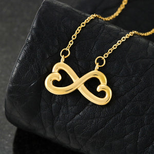 To My Daughter - From Mom - Infinity Heart Necklace