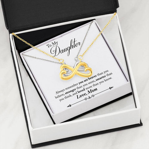 Image of To My Daughter - From Mom - Infinity Heart Necklace