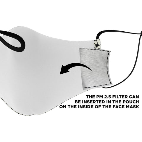 "The ""Andrea"" Custom Printed Face Mask"