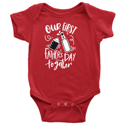 Image of Our First Father's Day Together Baby Bodysuit