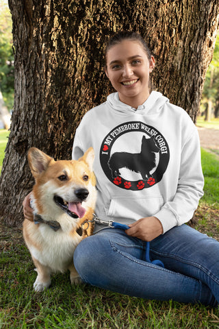 Image of I love my Pembroke Welsh Corgi hoodie
