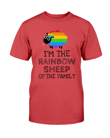 Image of Rainbow Sheep of the Family Unisex Tee