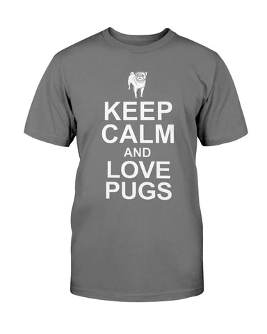 Image of Keep Calm and Love Pugs tshirt
