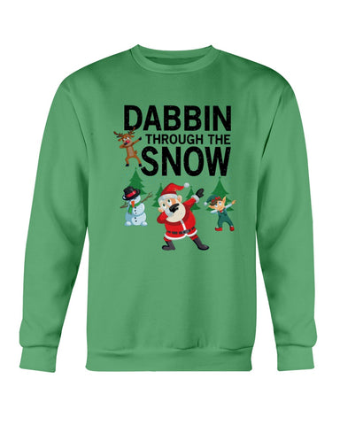 Image of Dabbin' through the snow ugly xmas sweater
