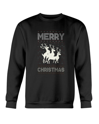 Image of Reindeers Frolicking Ugly Xmas Sweater