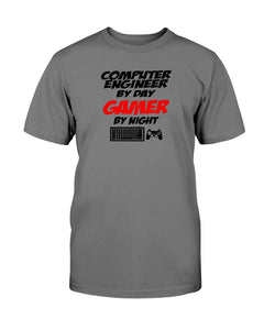 Computer Engineer by day Gamer by night tshirt