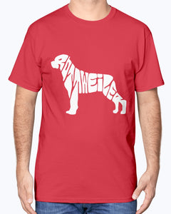 Rottweiler spelled out shirt