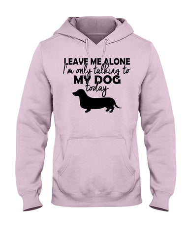 Image of I'm only talking to my dog today hoodie
