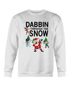Dabbin' through the snow ugly xmas sweater
