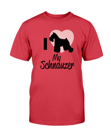 Image of I love my Schnauzer tshirt