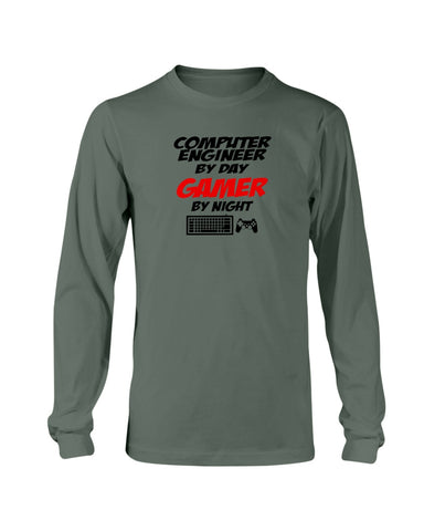 Computer Engineer by day Gamer by night sweatshirt