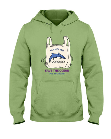 Image of Save the Oceans - Dolphins Hoodie